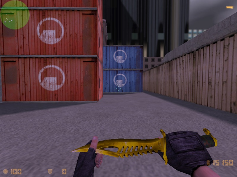 Модель knife cs 1.6 Gold Weapons